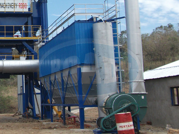 The dust collection system of asphalt plant